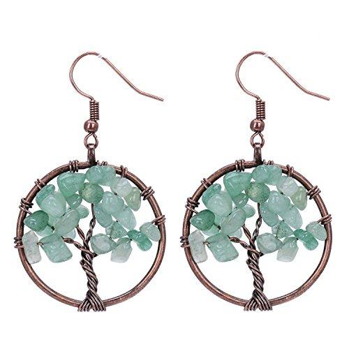 Sedmart tree of life green aventurine pendant earrings gems sedmart tree of life green aventurine pendant earrings gems aloadofball Image collections