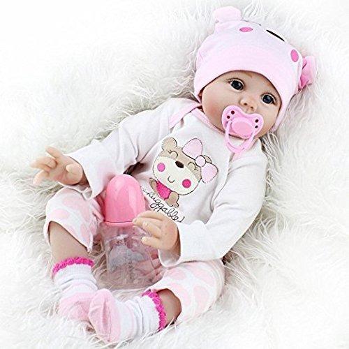 seedollia real life reborn baby doll girl silicona open blue