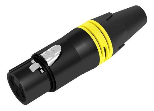seetronic sc3fxx-bg conector xlr hembra negro de 3 contactos
