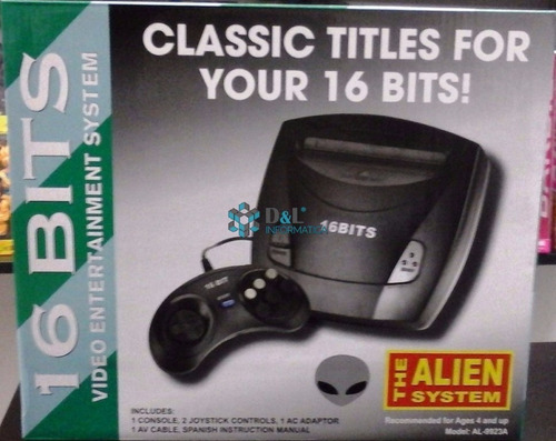 sega 16 bits +2 joysticks+ trafo + juegos sonic gtía 6 meses