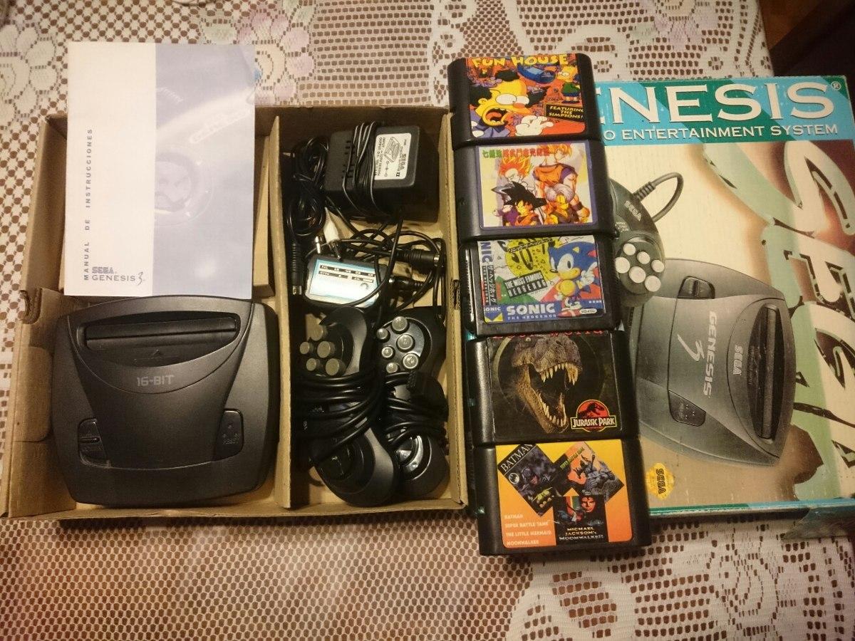 Sega Genesis 3 En Excelente Estado Mas 5 Juegos 950 00 En