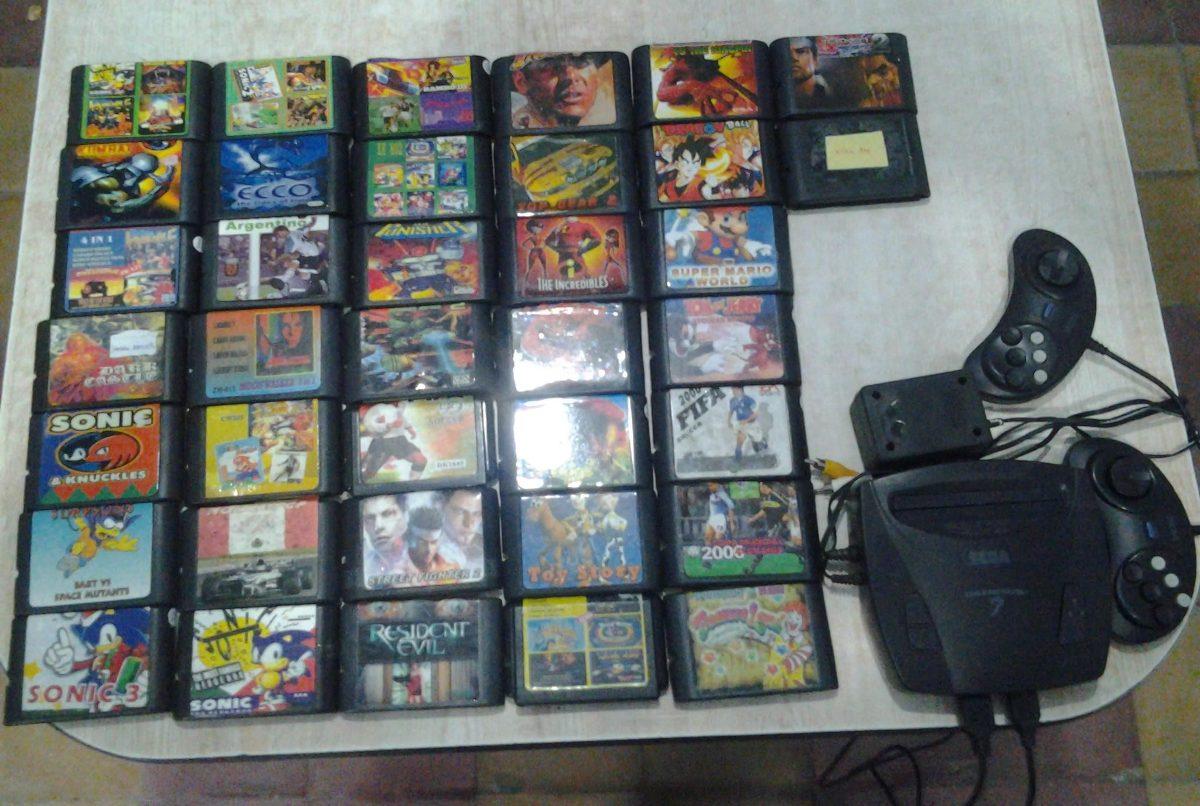 Sega Genesis 3 Con 38 Cartuchos 63 Juegos En Total 3 500 00 En