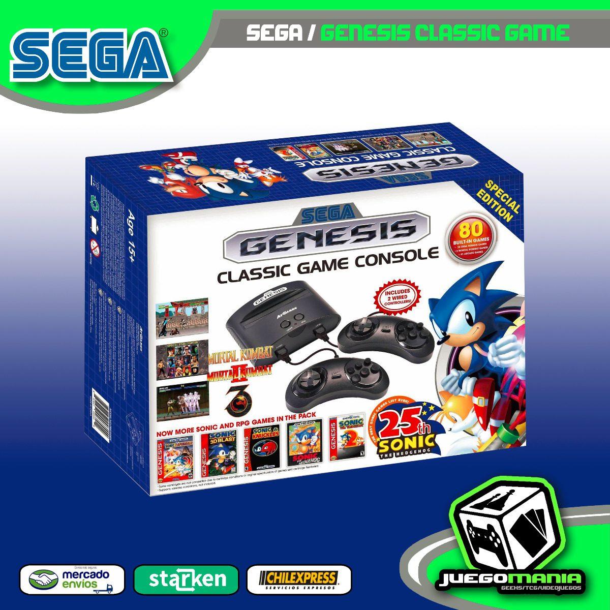 Sega Genesis Mini Classic 81 Juegos Nueva Envio Gratis