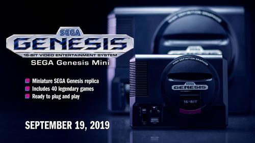 sega genesis mini classic oficial sega 2019 6 cuotas s/ int