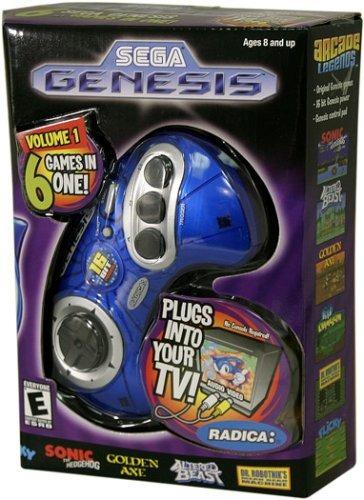 sega genesis radica plug and play 6 juegos en uno