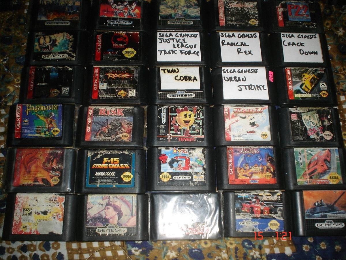Sega Genesis Variedad En Titulos Parte 2 A 120 Pesos C U 120 00