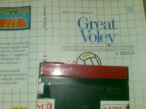 sega master system juego y tapa  (great voley)