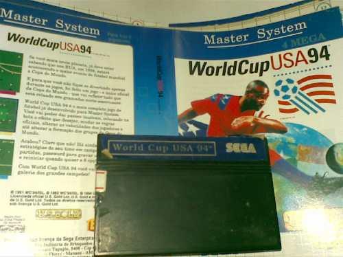 sega master system juego y tapa  (woeld cup usa 94)