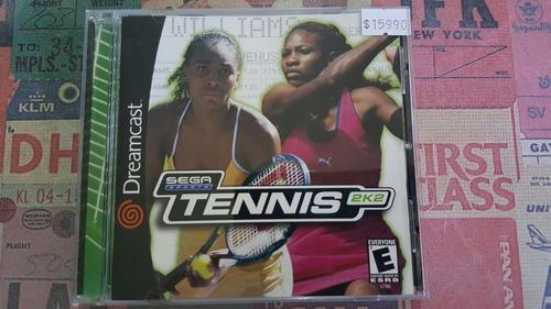 sega tennis 2k2 dreamcast $15.990 karasu big!! excelente!!!