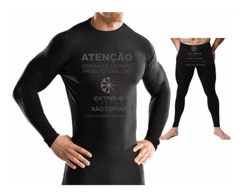segunda pele térmica extreme p/ frio moderado camisa + calça