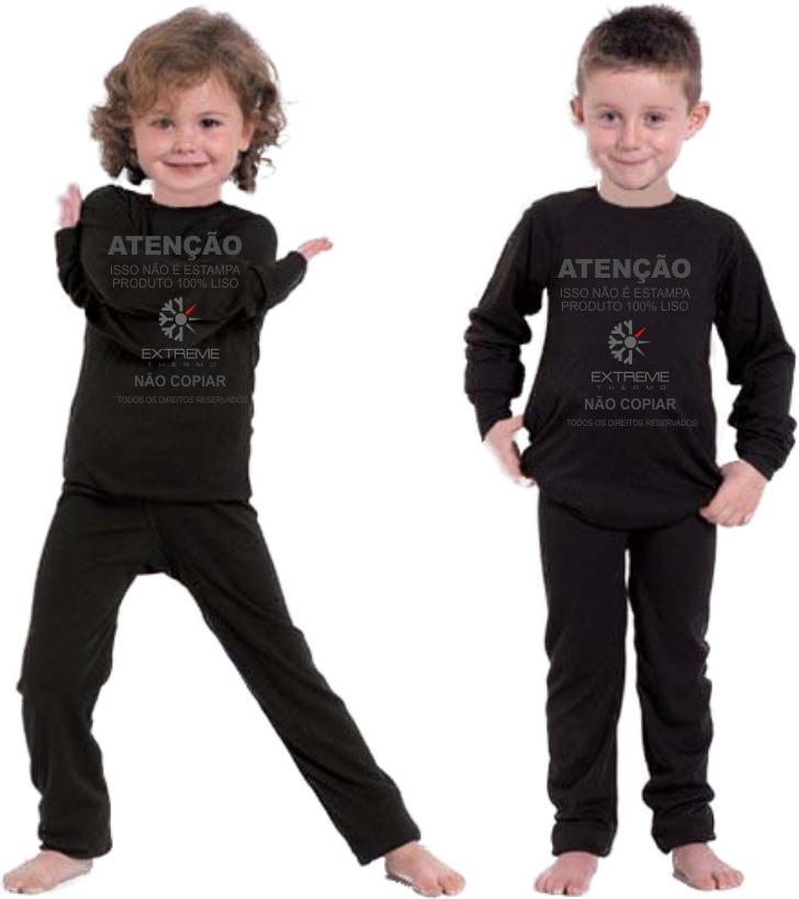 170a1d9227 segunda pele térmica frio intenso extreme kids calça + blusa. Carregando  zoom.