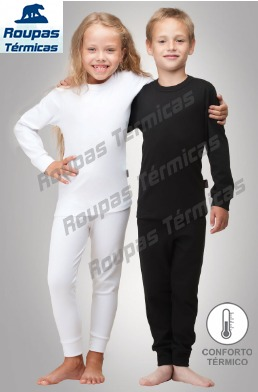 Segunda Pele Térmica Infantil Conjunto Proteção Para O Frio - R ... c2405daa80a76