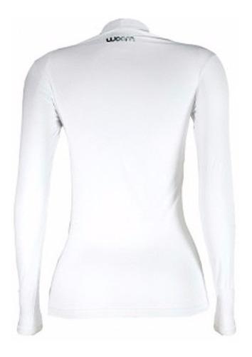 segunda pele woom x-fit camisa térmica feminina branca