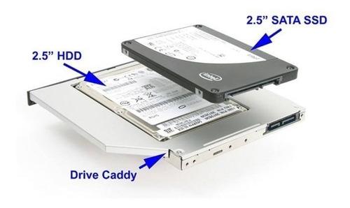 segundo lector sata disco duro 9.5 y 12.7 hdd ssd caddy