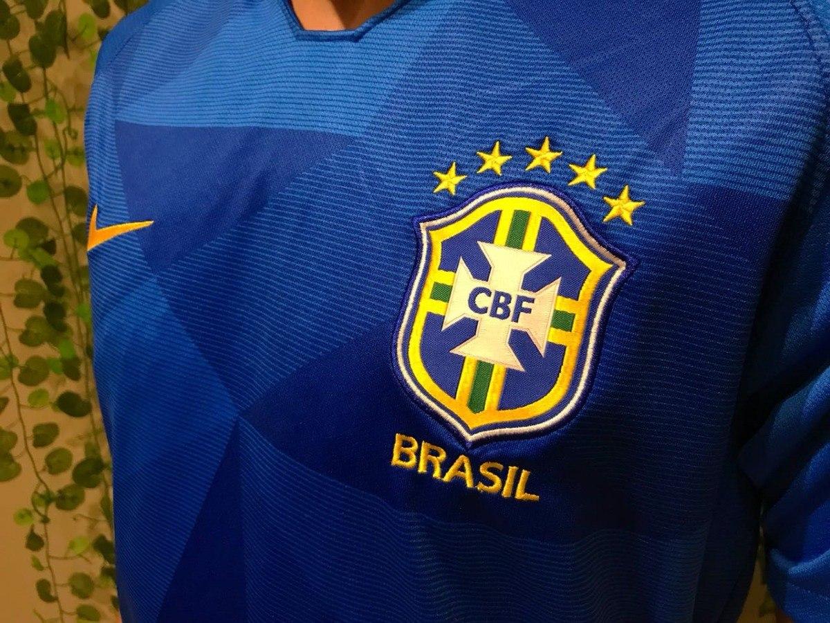segundo uniforme da seleção brasileira brasil mundial 2018. Carregando zoom. 9db91b8641a68