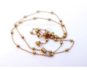 2bce69008089 Corrente Dourada Para Oculos no Mercado Livre Brasil