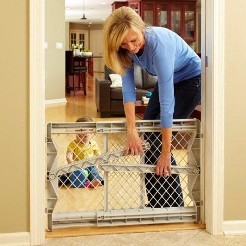 Puerta gate reja de seguridad bebe o mascota infanti - Seguro para puertas bebe ...