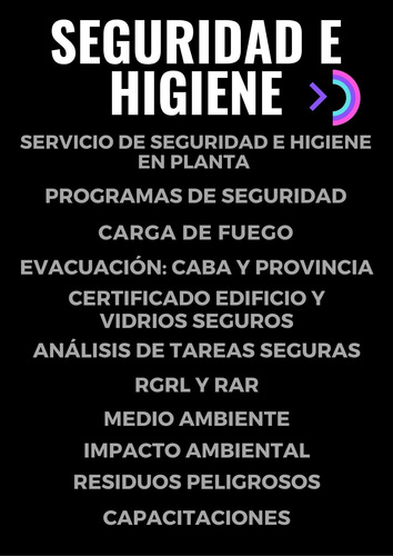 seguridad e higiene servicio