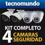 Kits De Camaras Vigilancia Seguridad Exteriores Interiores