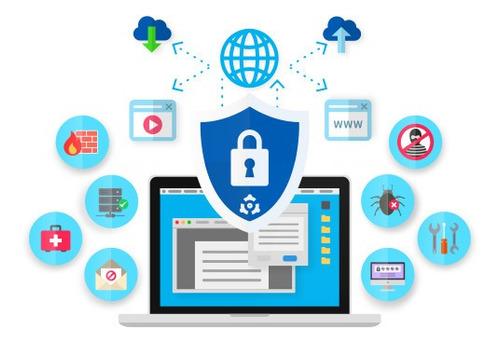 seguridad informática y teletrabajo. redes av firewall