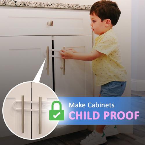seguridad para niños corrediza gabinete cerraduras (paquete