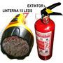 Extintor Deportivo Mas Potente Linterna 15 Leds Recargable