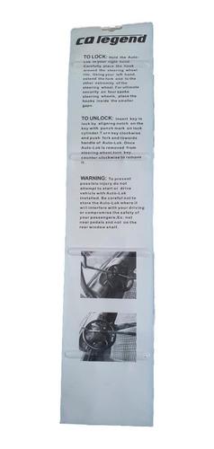 seguro candado bloqueo antirrobo timon volante