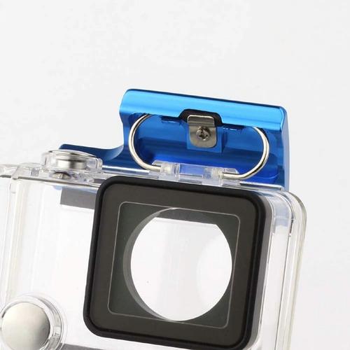 seguro carcasa case aluminio gopro 4 3 3+ incluye tornillo