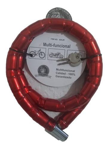 seguro para moto con llave de seguridad