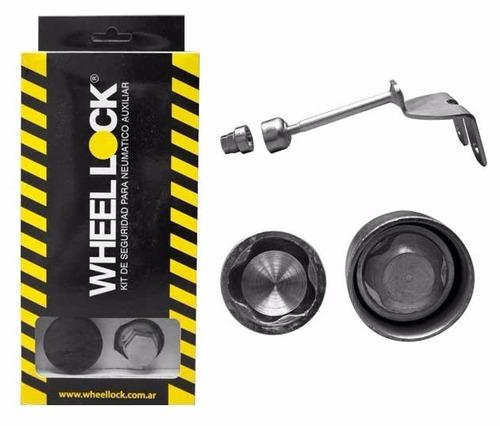 seguro rueda de repuesto wheell lock hilux / portaequipajes