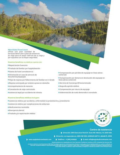 seguros de viajes internacionales- m&a global travel assist