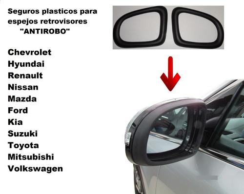 seguros espejos retrovisores plásticos antirobo kia