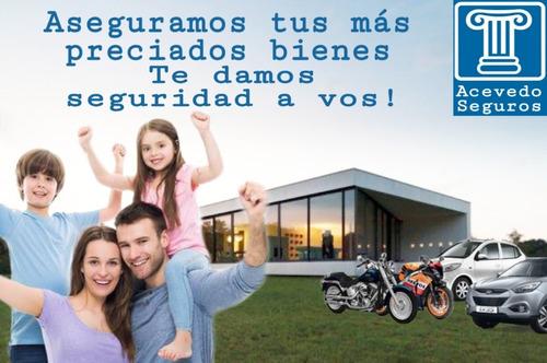 seguros para autos, motos, hogar, comercio, personales.