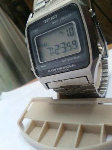 seiko a914-5a19,crono alarma lcd led raro coleccion relo.egp