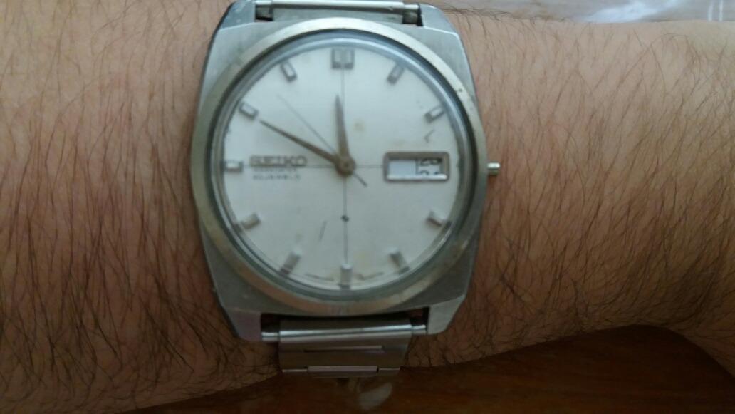 23799e5a441 seiko automático weekdater 30 rubis relógio de pulso antigo. Carregando zoom .