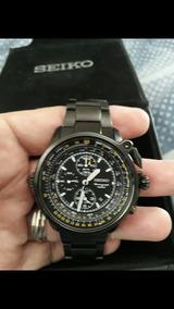 335c8d925 Lindo Relógio Seiko Aviador 7n43 8a39 - Relógios no Mercado Livre Brasil