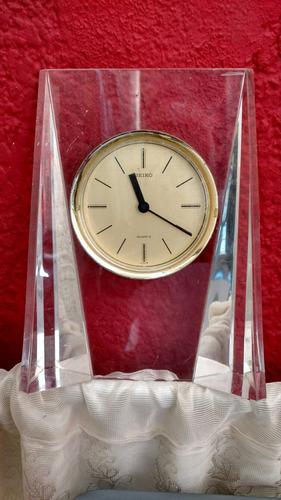 seiko japan reloj de escritorio de pila (a326-1)