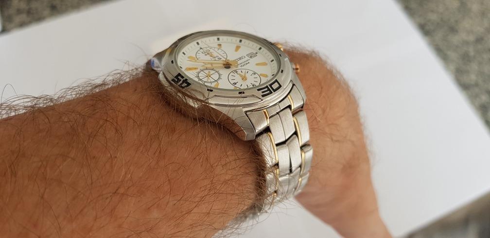 834c4fd749a Carregando zoom... 2 relógio seiko masculino chronograph 100m water  resistant!
