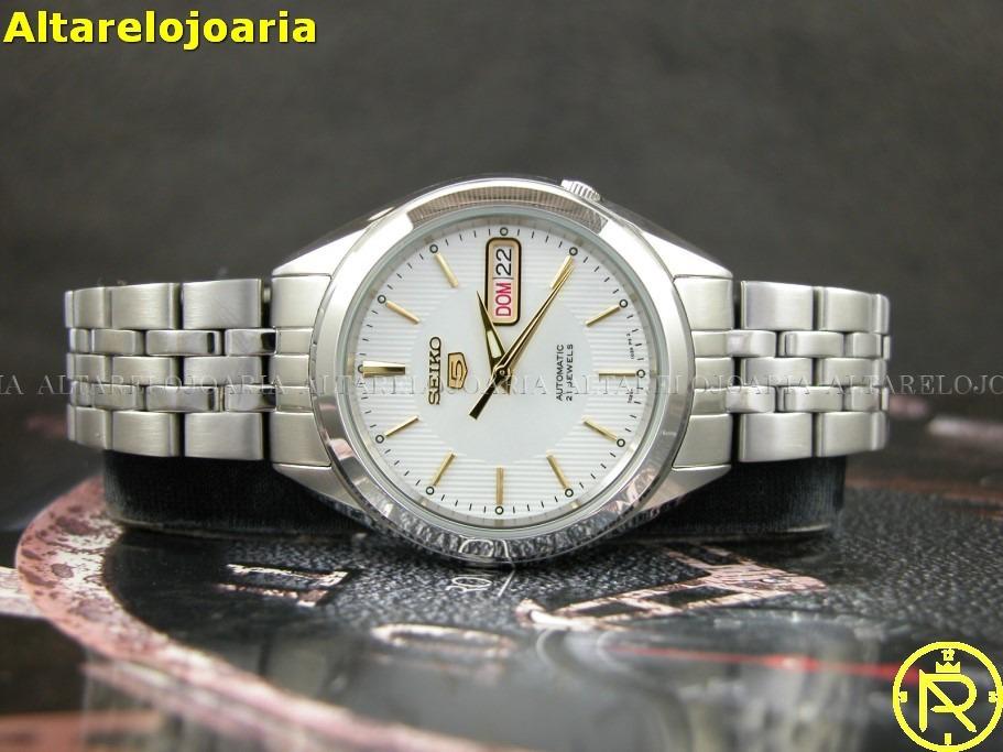955f69e32b8 Relógio Seiko Masculino Automático Clássico Snkl17k1 - R  499