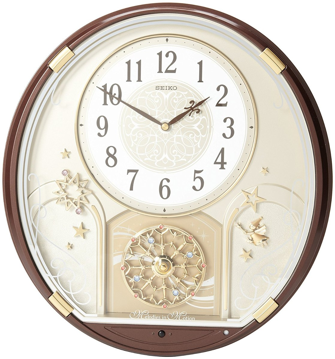 Seiko Qxm470brh Melody In Motion Clock 5 770 96 En Mercado Libre # Muebles Hattori Design