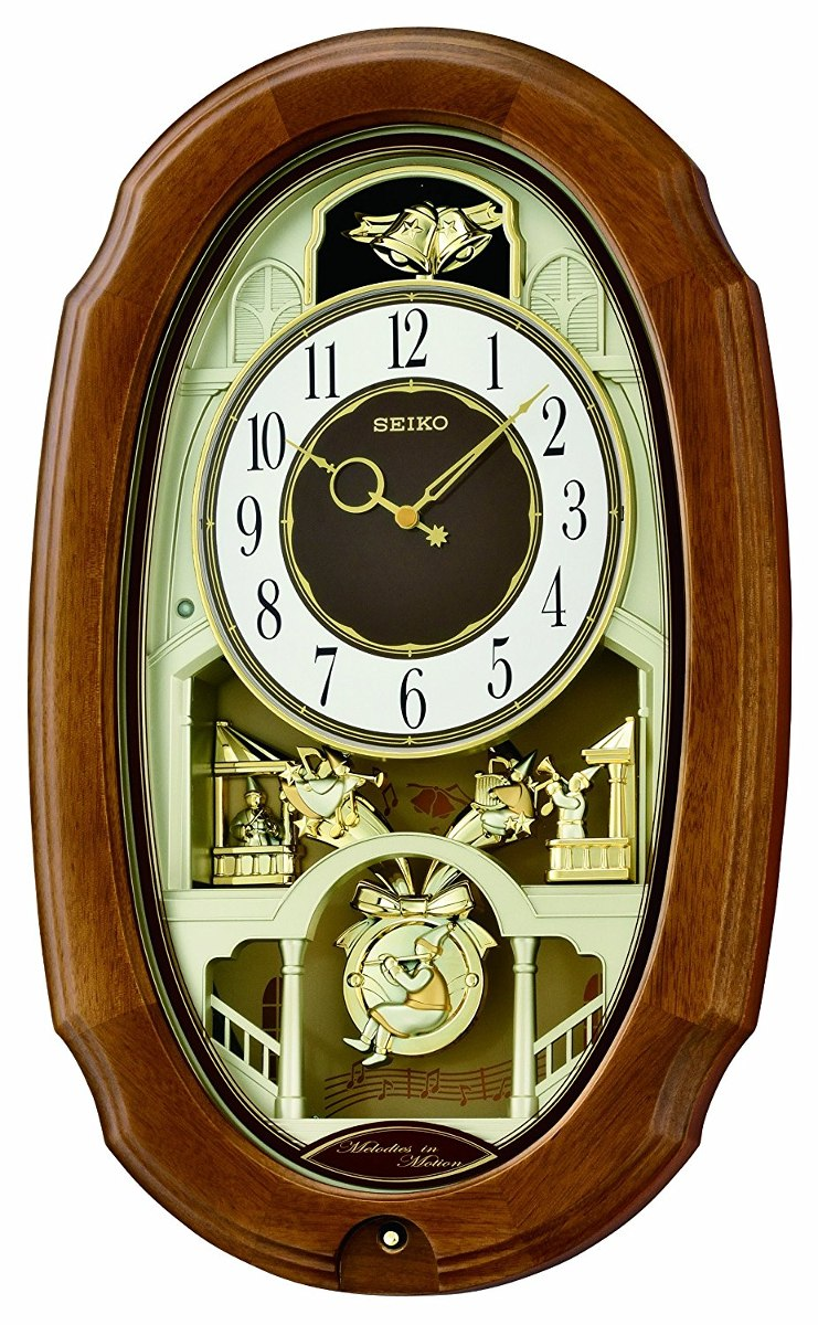 Seiko Qxm479brh Melody In Motion Clock 7 351 07 En Mercado Libre # Muebles Hattori Design