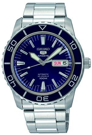 seiko reloj snzh53 seiko 5 automático azul oscuro dial de ac