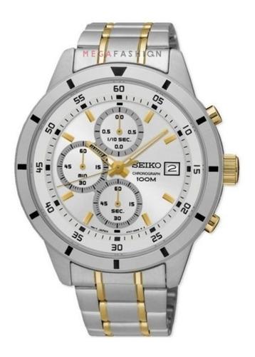 seiko sks563p1 silver dial chronograph 12xs/juros promoção!!