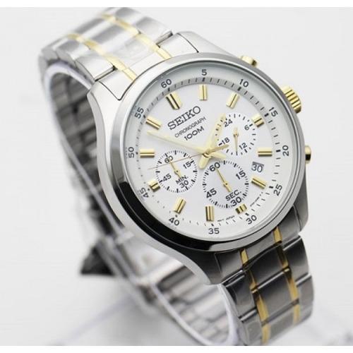seiko sks589p1 cronometro acero en 2 tonos caballero