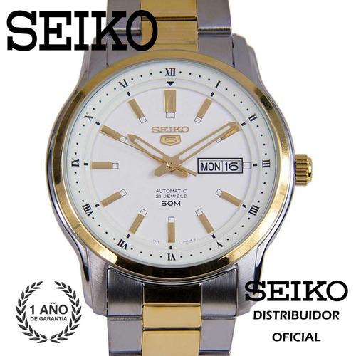 seiko snkp14k1 acero movimiento automatico detalles dorados