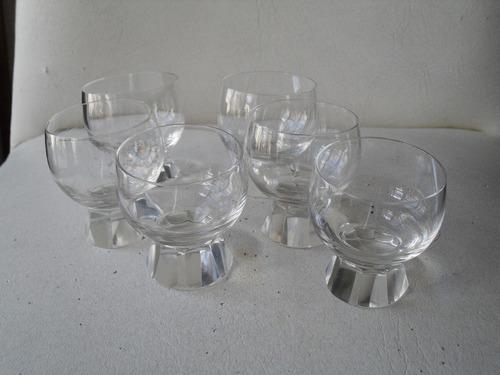 seis copas de cristal para licor
