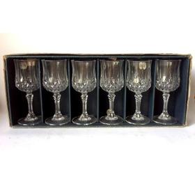 Seis Copas Para Licor Cristal D'arques Longchamp Nuevas