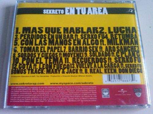 sekreto en tu area cd usado nacional