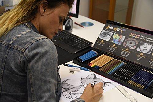 sela art- set de 54 lápices de arte profesionales set de pl