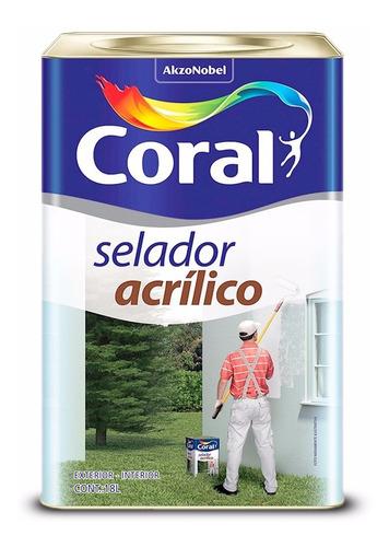 selador acrílico para parede interna e externa coral 18l